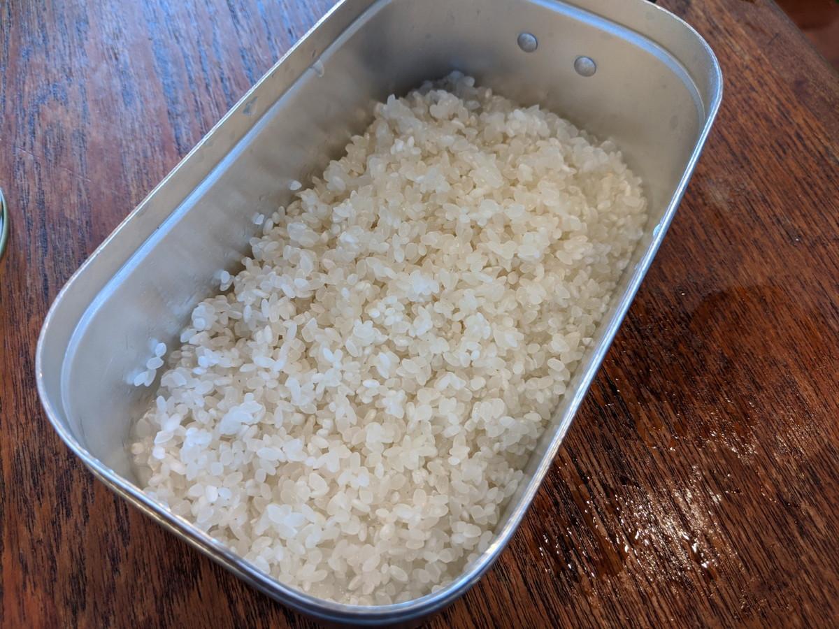 メスティン 炊き込みご飯 レシピ 水に浸す