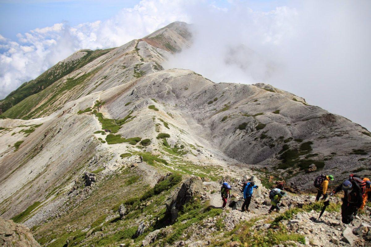 日本アルプスの登山・標高・山小屋