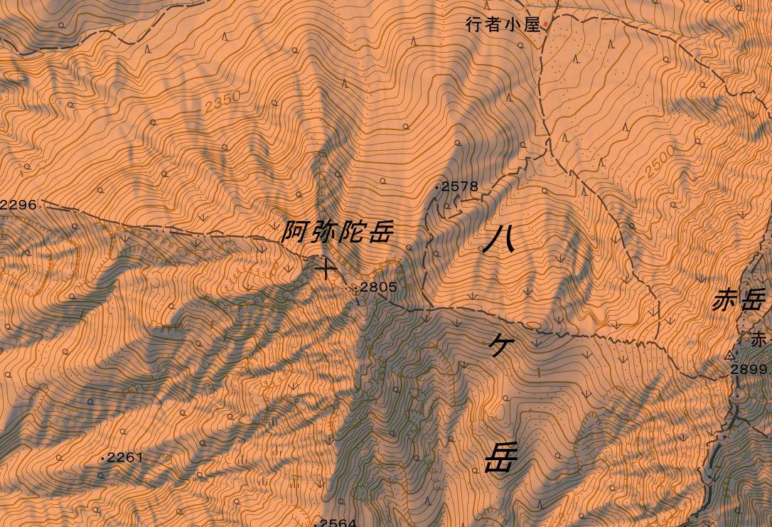 阿弥陀岳(あみだだけ)登山ルート・難易度