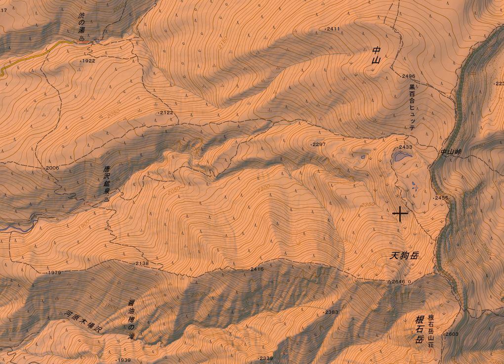 渋の湯から天狗岳の登山ルート