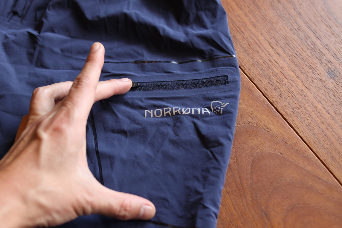 NORRONAビティホーントレイルランニングショーツのポケット