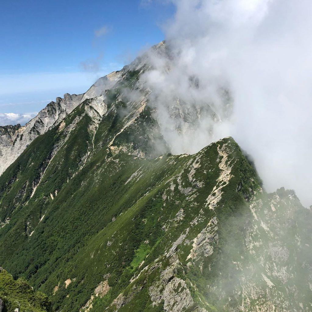 白馬岳から唐松岳の登山ルート