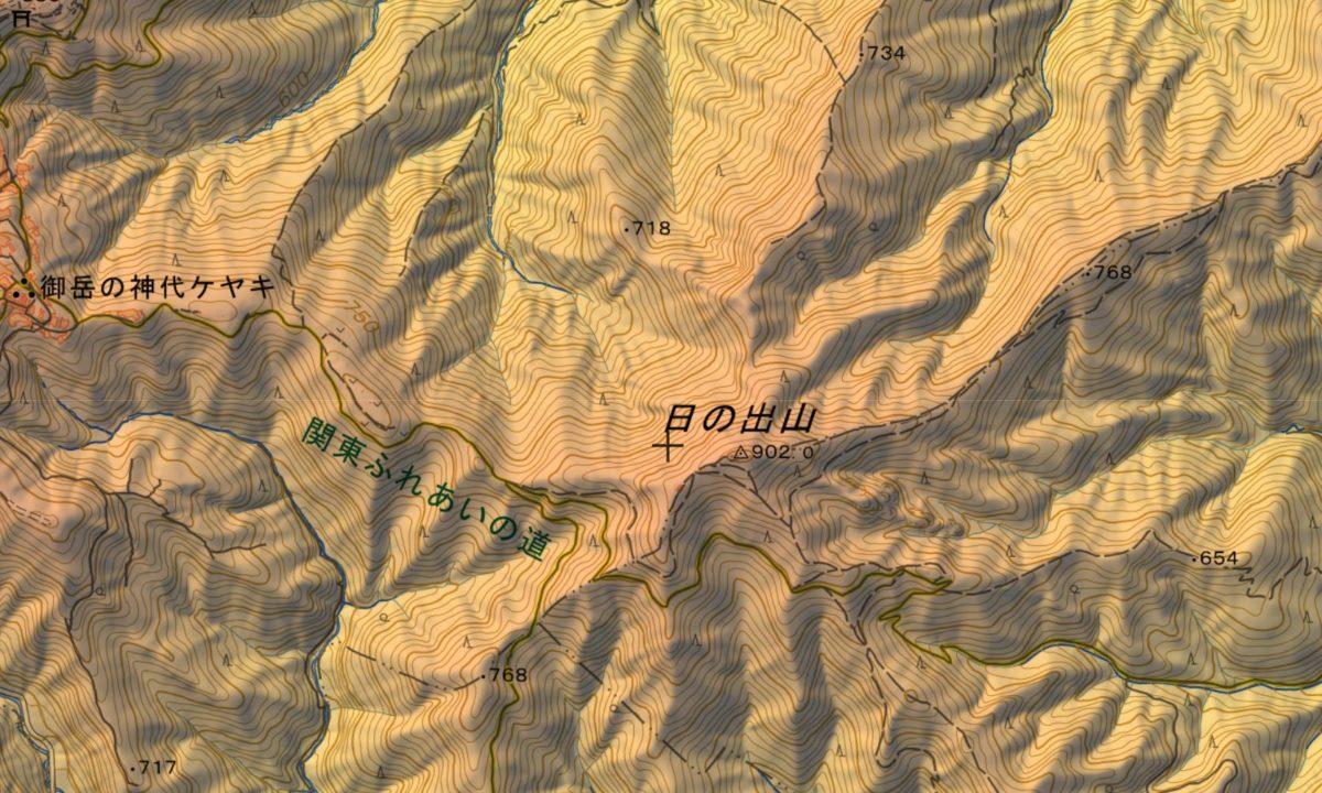 金比羅尾根~日の出山~鳩ノ巣の登山ルート
