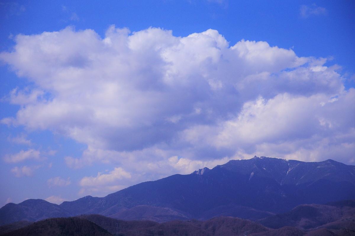 幕岩からは、すぐ目の前に小楢山のメインの山頂がよく見える