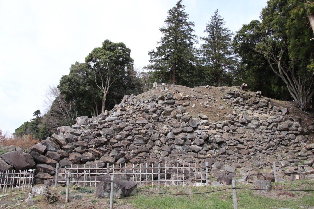 豊臣秀吉の小田原攻めで知られる 石垣山