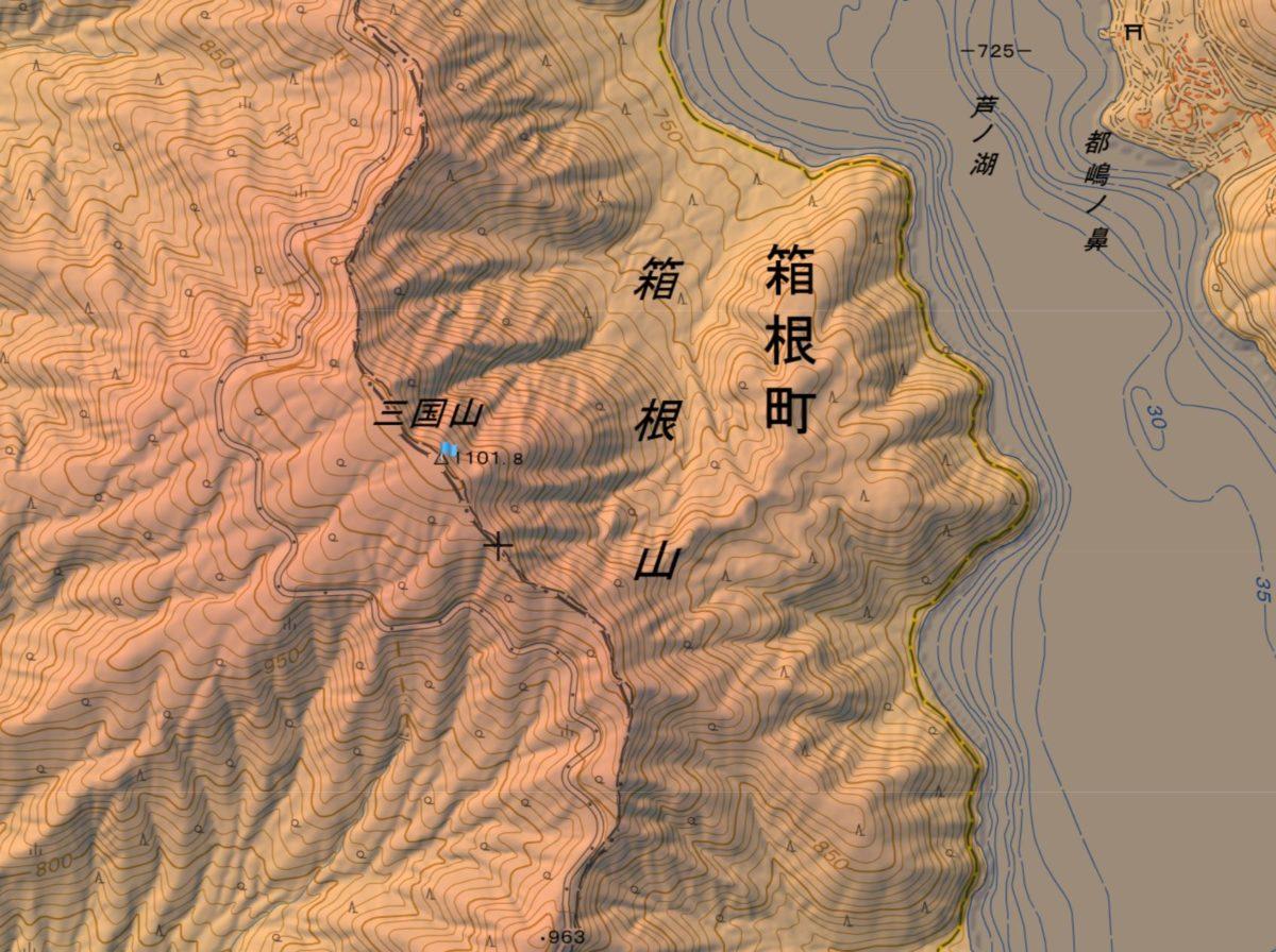 三国山の登山ルート・難易度