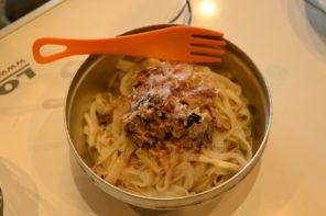 旨いサバ缶×うどんで作る簡単山ごはんレシピ