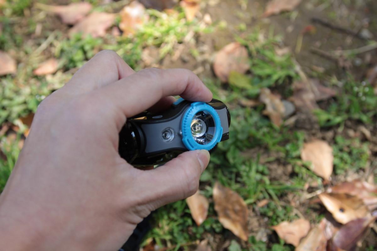 登山用ヘッドライト レッドレンザー MH5のリング