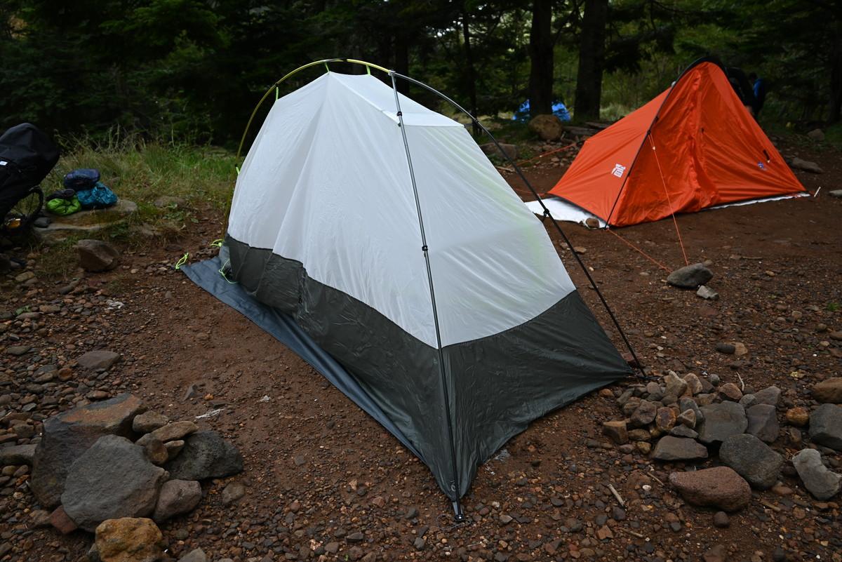 赤岳鉱泉におけるテント場