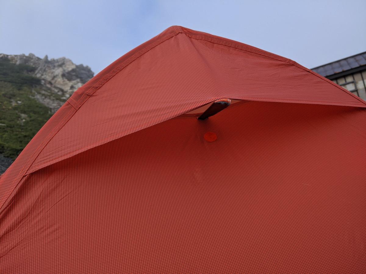 ビッグアグネスのテント コッパースプール ベンチレーション