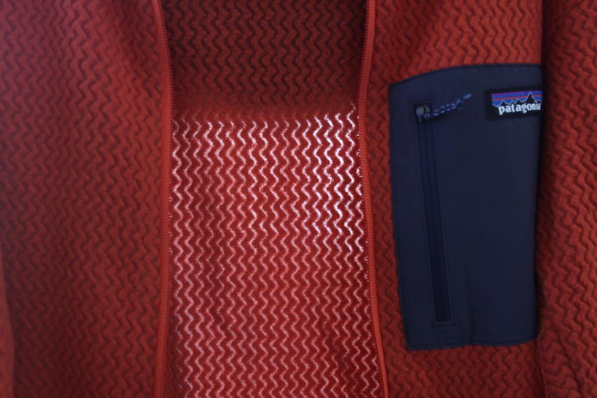 R 1フリースのフリース素材は独自のジグザグ織りの生地