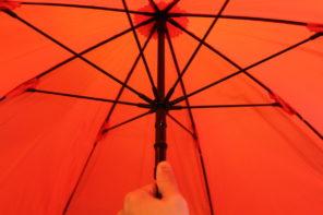 登山に傘はとても便利 ユーロシルムのスイングライトフレックス