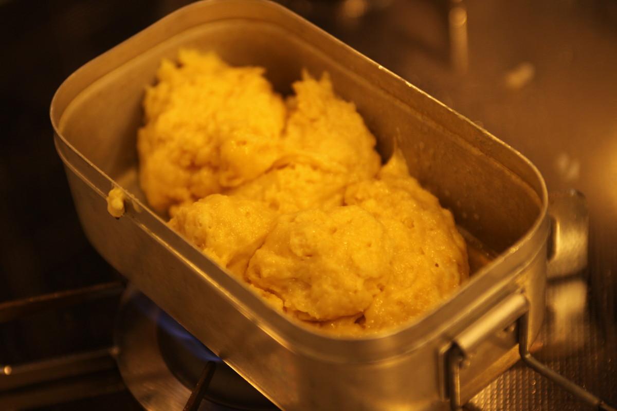 メスティン デザート レシピ パンケーキ 材料 レシピ5