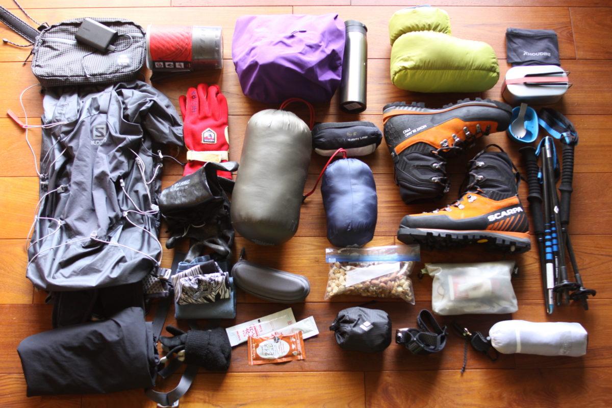 燕岳登山のためのウェアと装備-山小屋泊・冬山登山