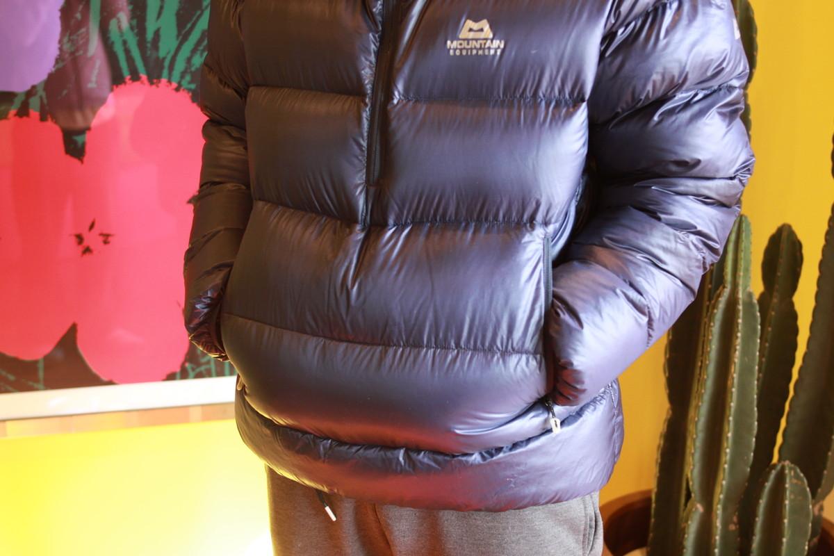 マウンテンイクイップメント ダウンセーター ポケット