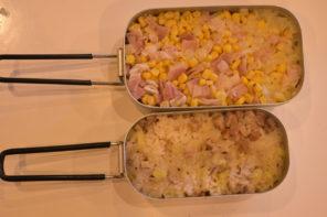 ダイソーメスティン山ごはんレシピ-コンビニの材料で作る炊き込みご飯