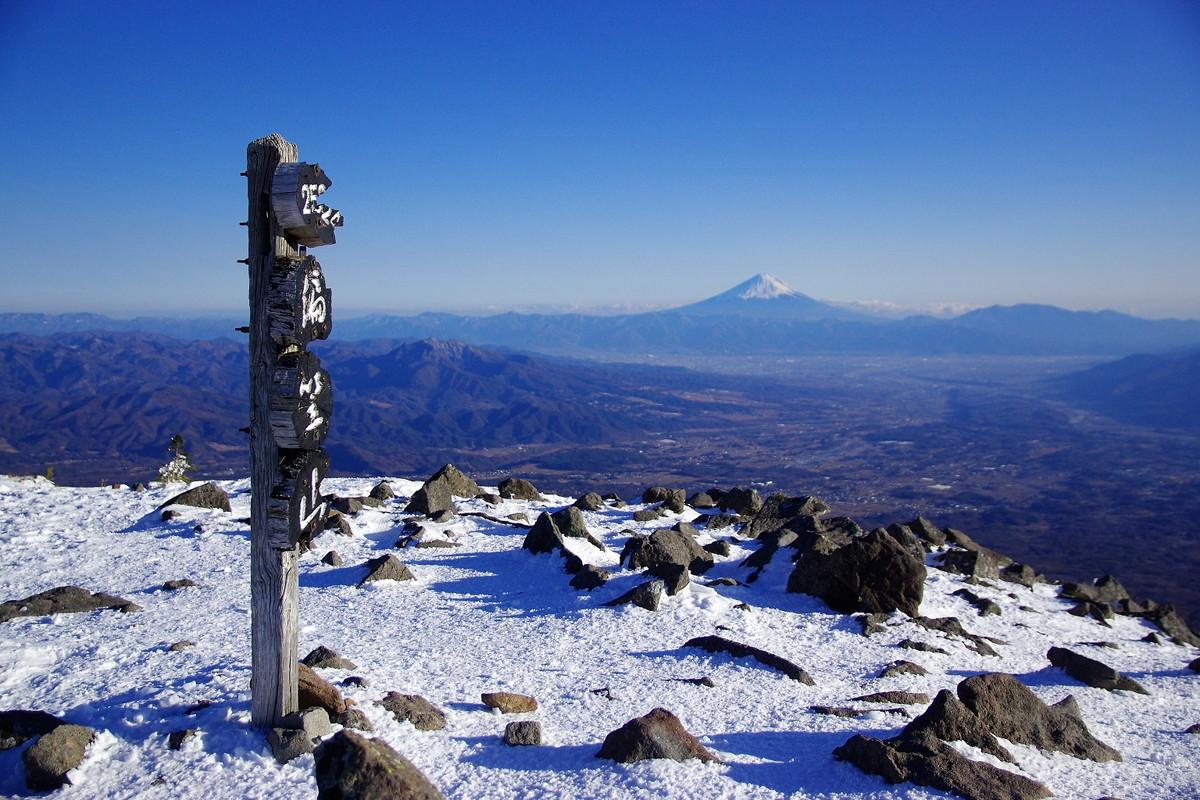 編笠山 富士山
