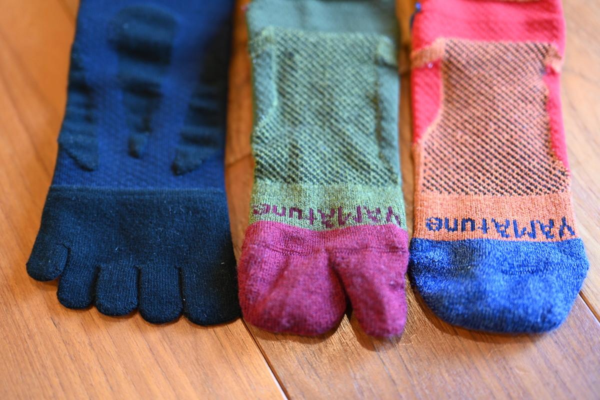 ヤマチューンのソックスは五本指、足袋形状、通常の形と様々な展開