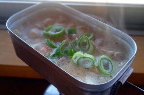 メスティン山ごはんレシピ-豚のもつ煮