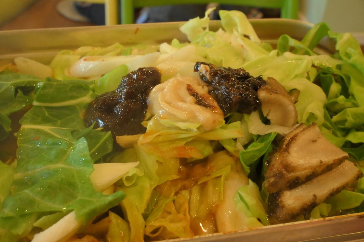 ラージメスティン山ごはんレシピ−キムチ鍋 レシピ6