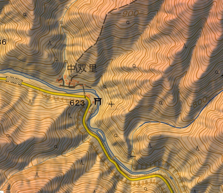 両神山から梵天尾根の登山ルート