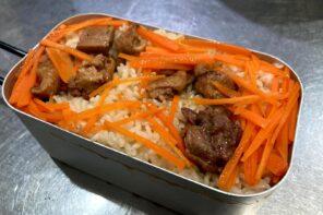 メスティン山ご飯レシピ‐缶詰でお手軽炊き込みご飯