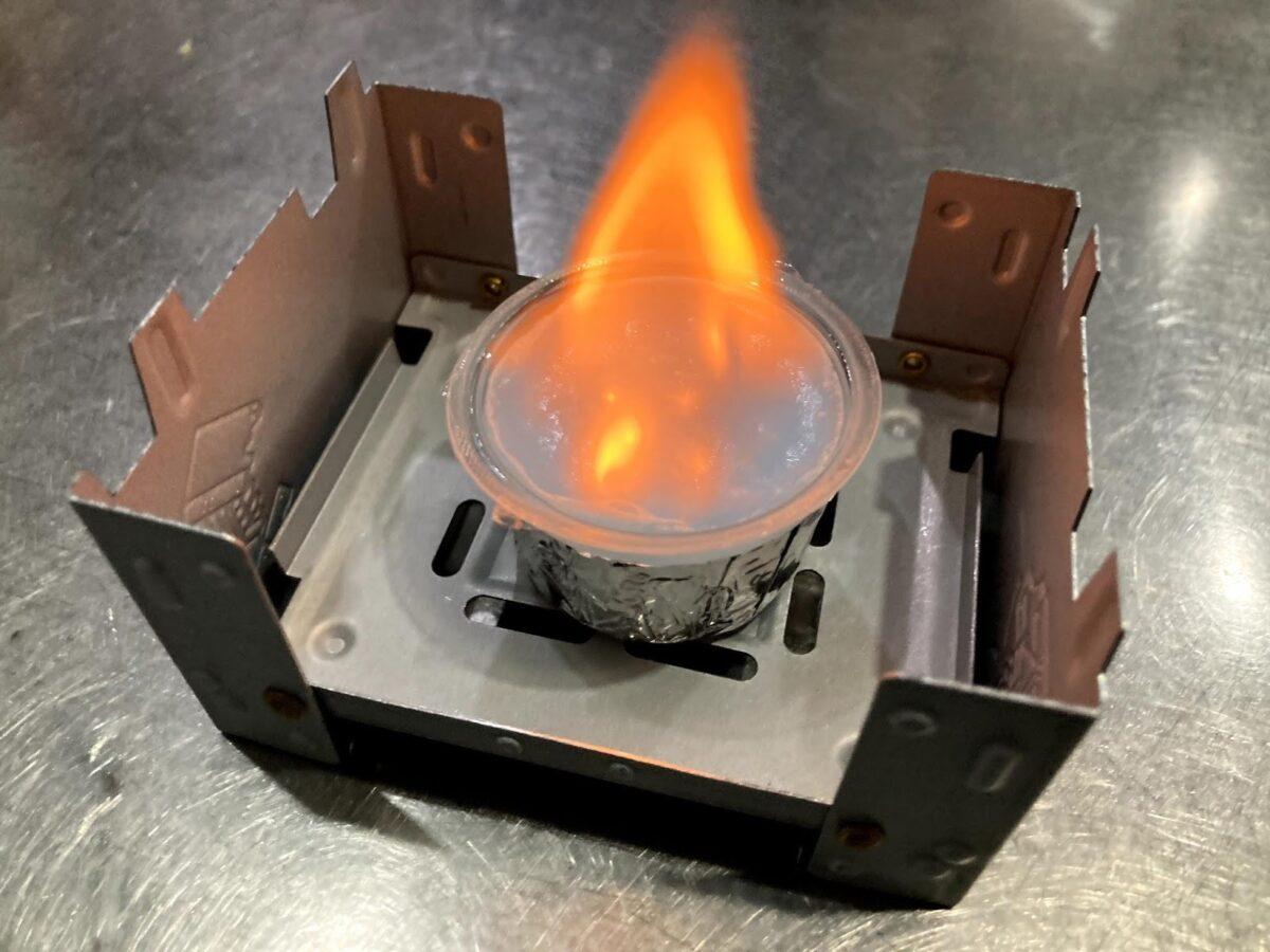 山で炊飯-固形燃料とメスティンで簡単炊飯