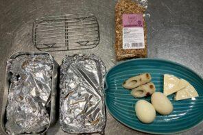 メスティン山ご飯レシピ‐チーズ&卵の燻製