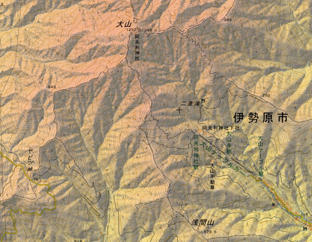 大山表参道からヤビツ峠への登山ルート・難易度