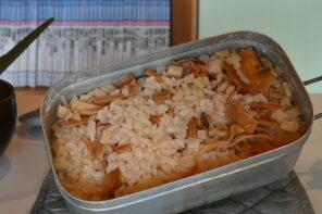 メスティン山ごはんレシピ−あたりめで作る炊き込みご飯
