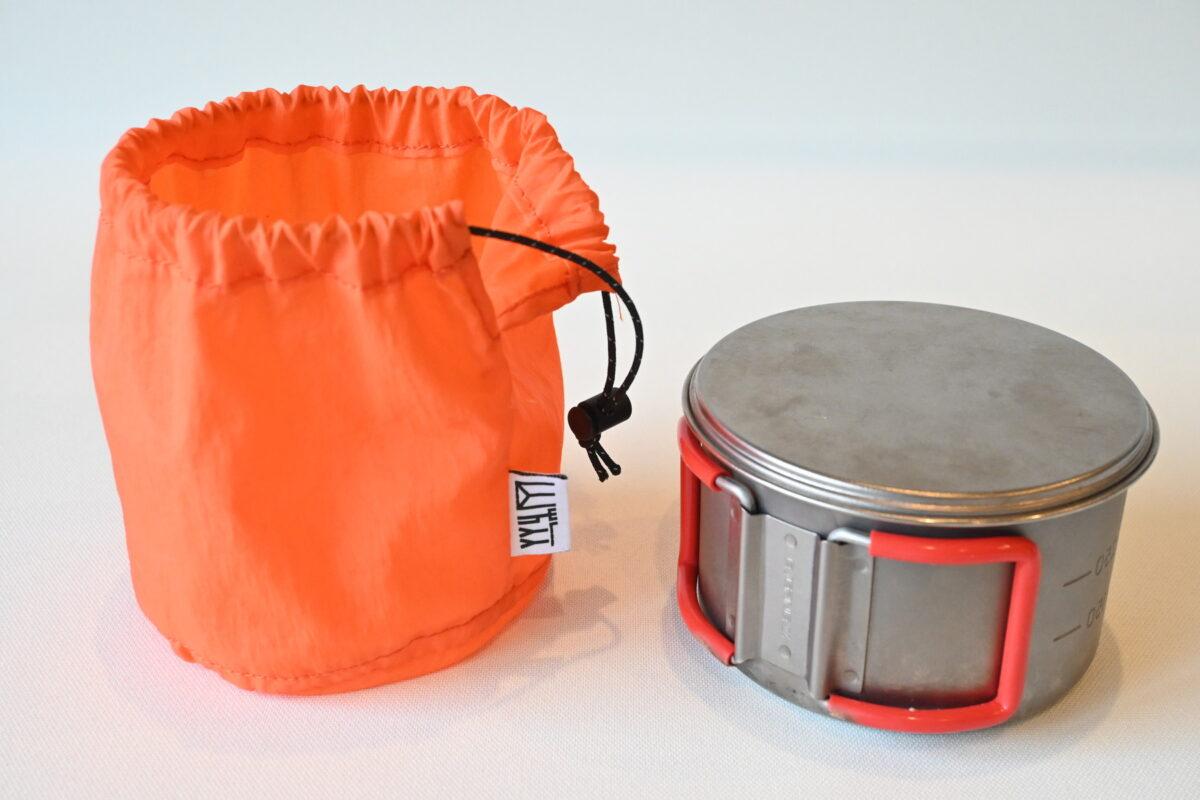 お湯を沸かすための軽量クッカー