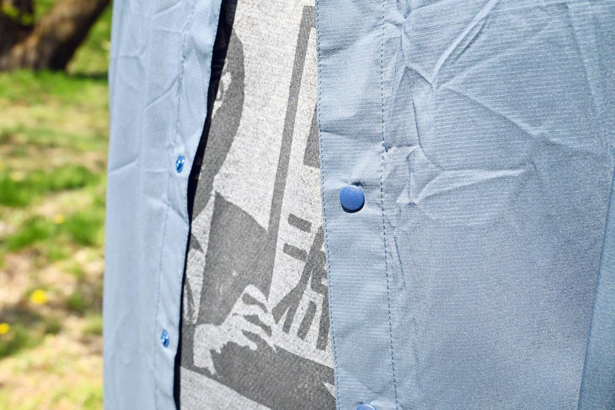山と道ULシャツ スナップボタン