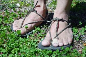 自作のワラーチで楽しむトレイルランニング-足の故障も改善