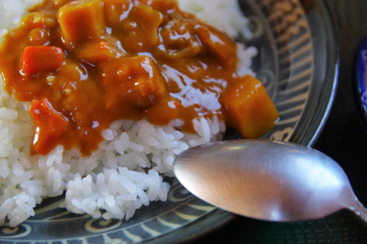 みやま山荘の食事 カレーライス