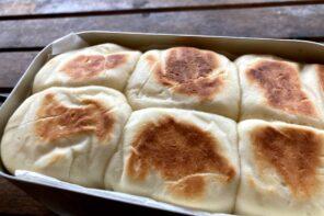 メスティン山ごはんレシピ‐ちぎり塩パン