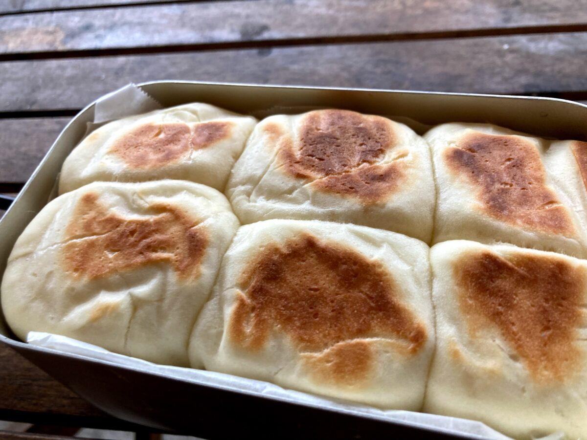 両面綺麗に焼けたちぎりパン