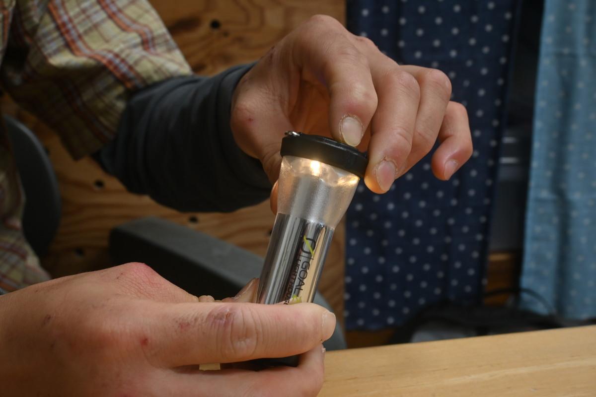 ゴールゼロ LEDミニランタン 明るさの調整