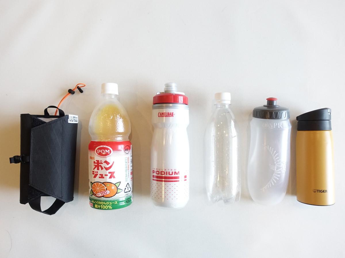 登山で持ち歩くボトル収納例