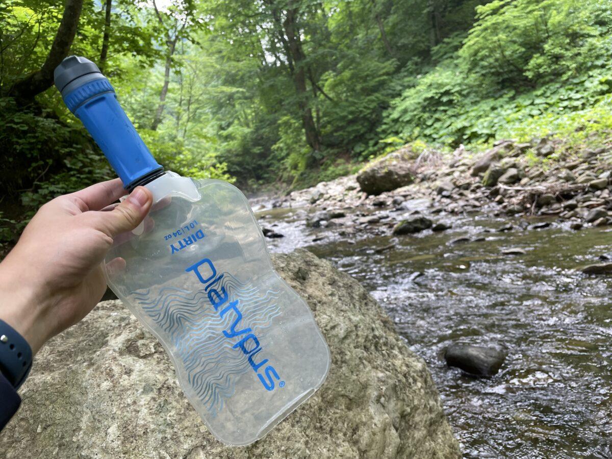 【レビュー】プラティパス クイックドローマイクロフィルター-高流量で超軽量な登山用浄水器