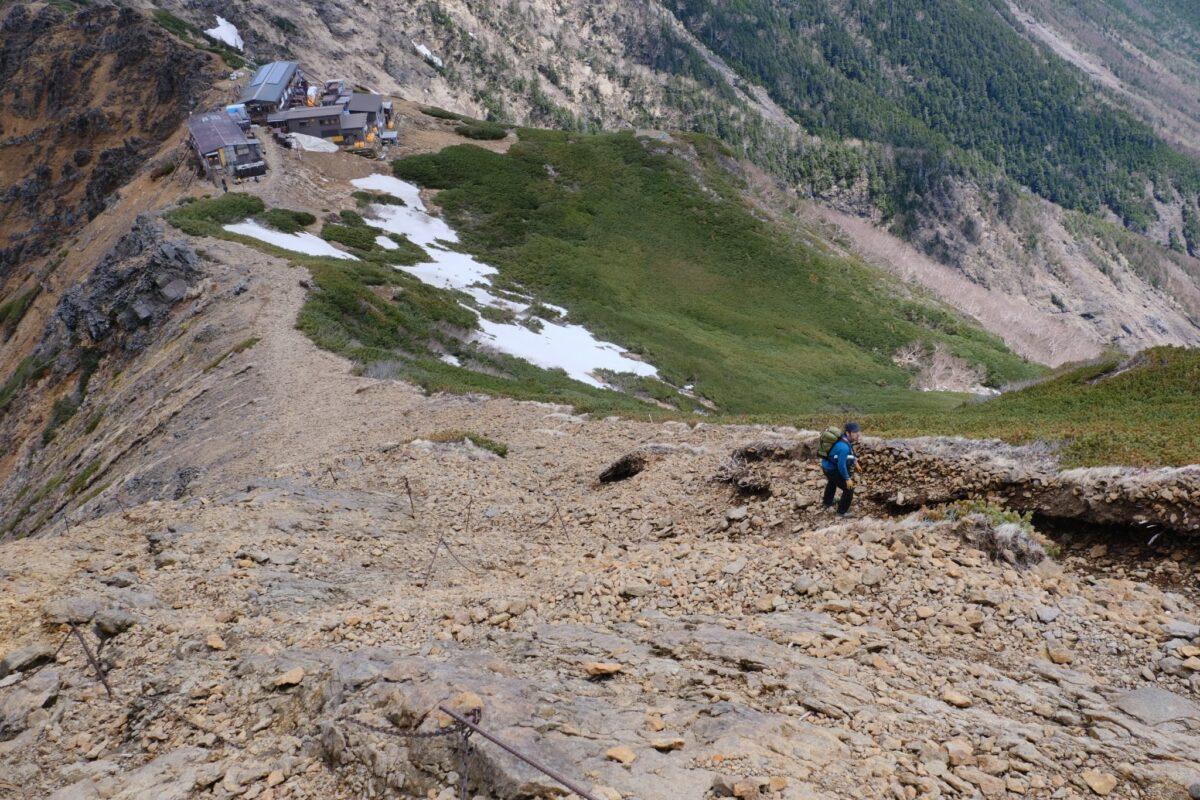 登山靴 おすすめ 急勾配の登山道 八ヶ岳