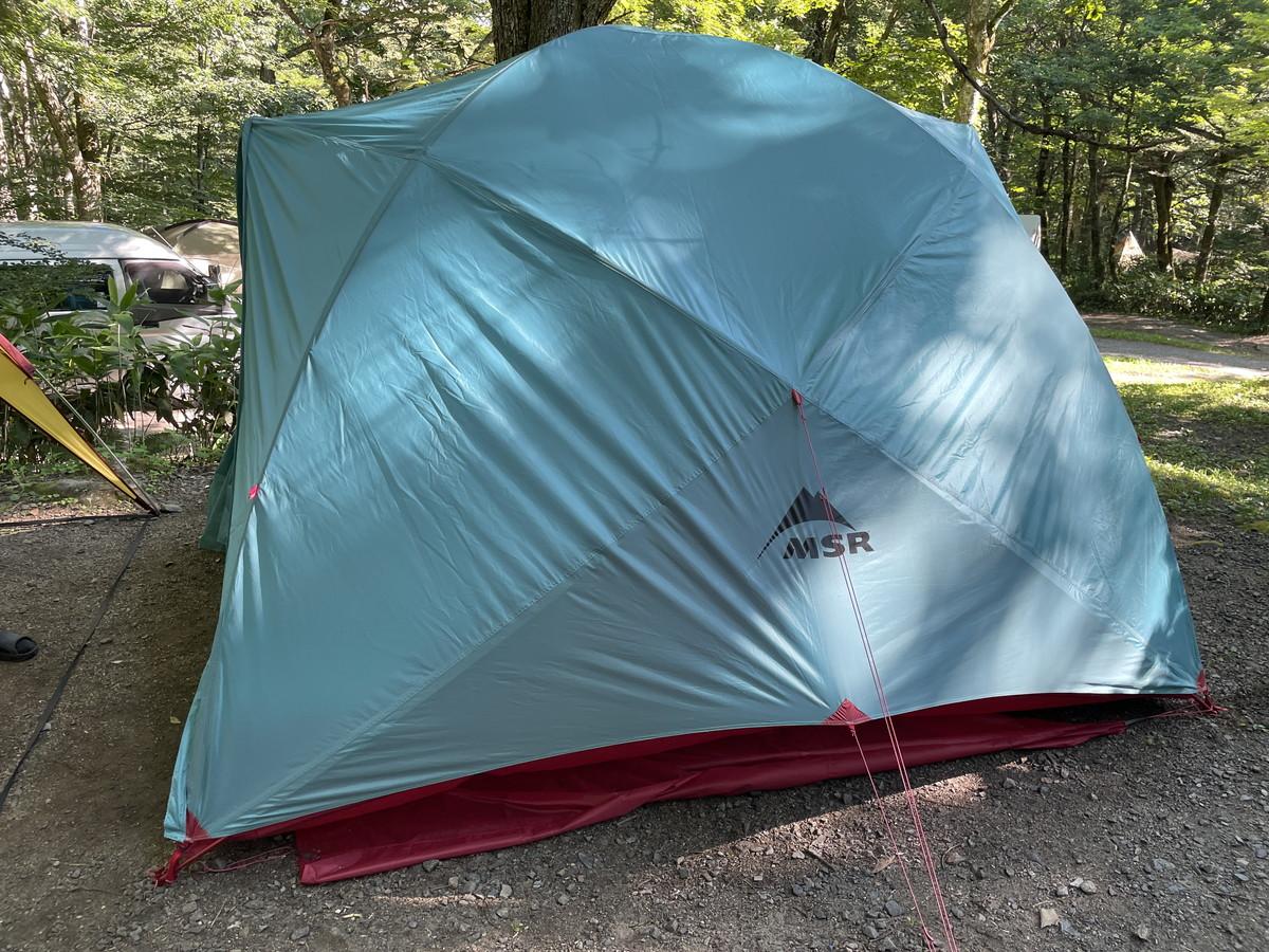 ハピチュードのテント設営完了