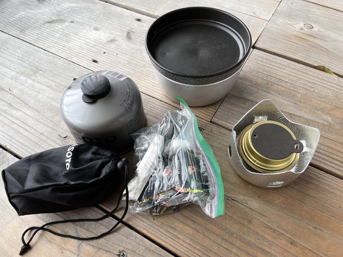 ミニトランギア 炊飯方法 燃料
