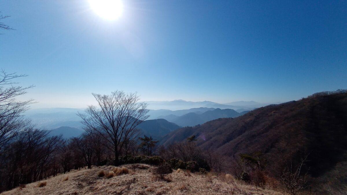 丹沢 鍋割山 マルガヤ尾根からの眺望
