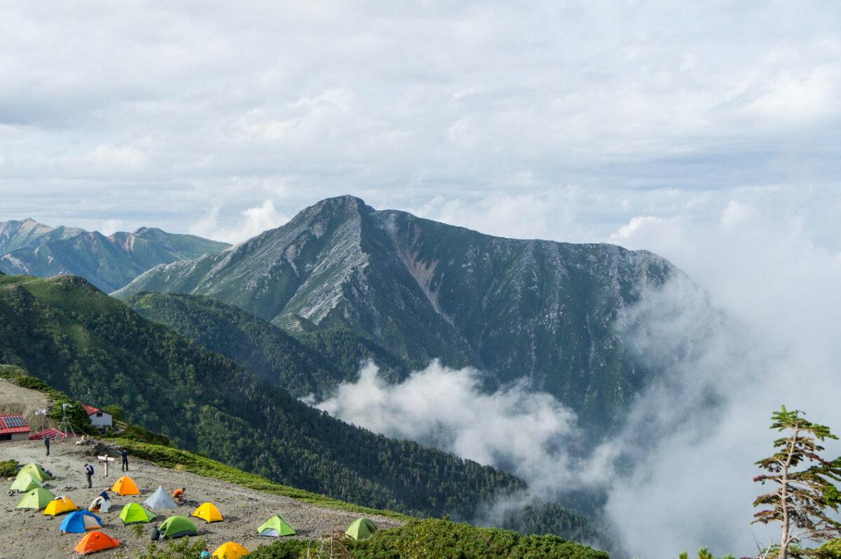 蝶ヶ岳頂上