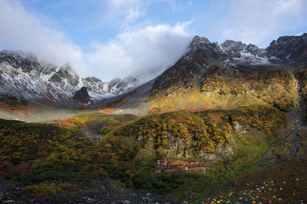 涸沢周辺 北アルプスの紅葉登山