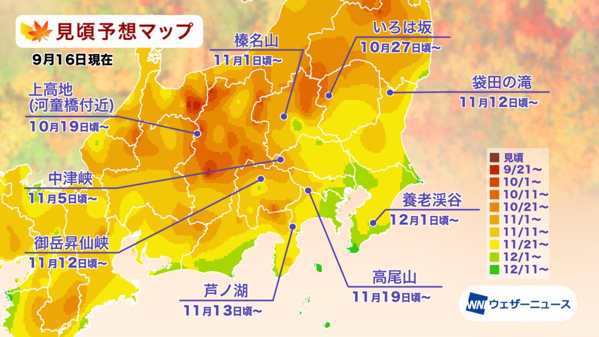 2021年 関東・甲信の紅葉