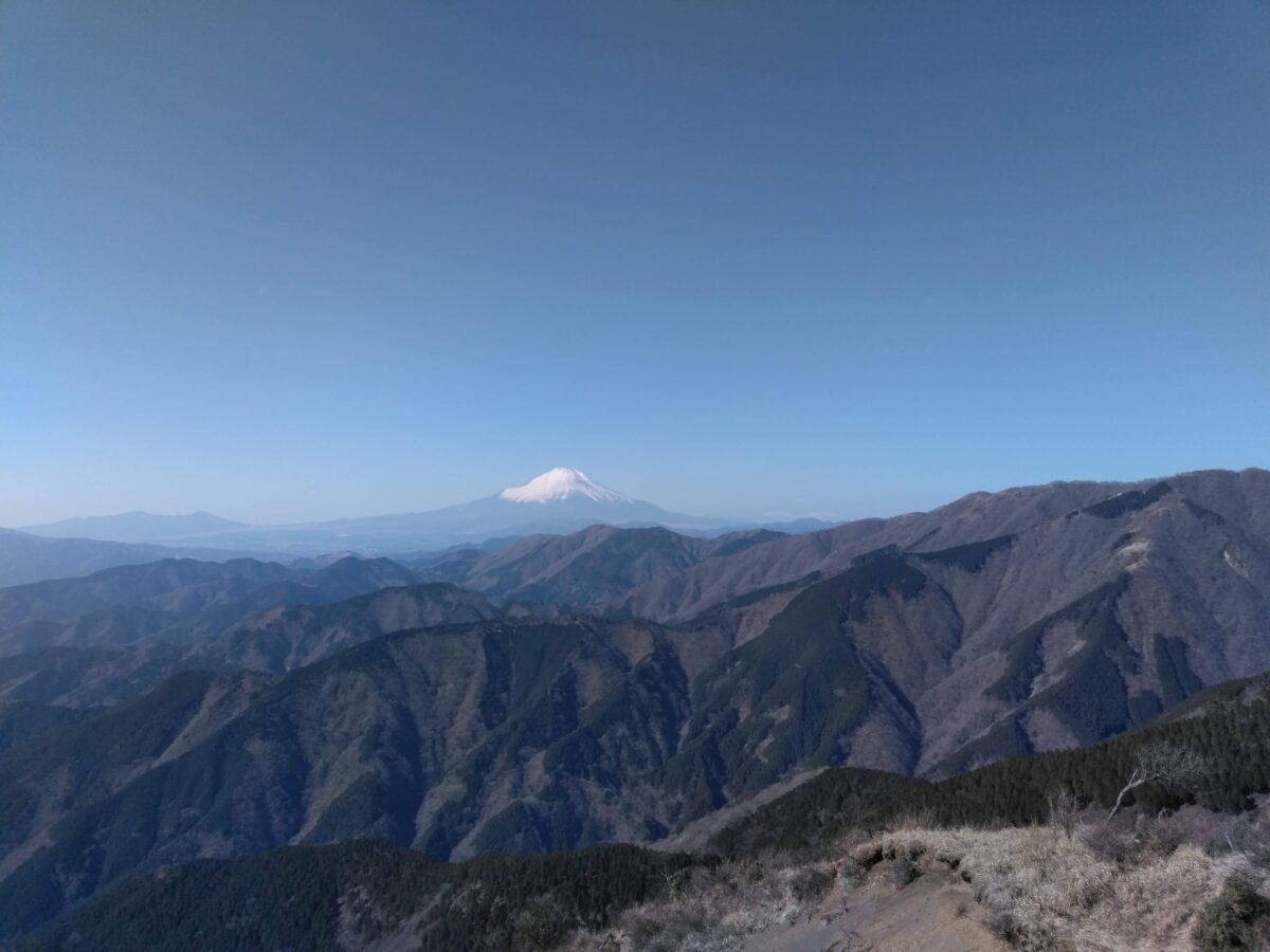 丹沢 三ノ塔 富士山