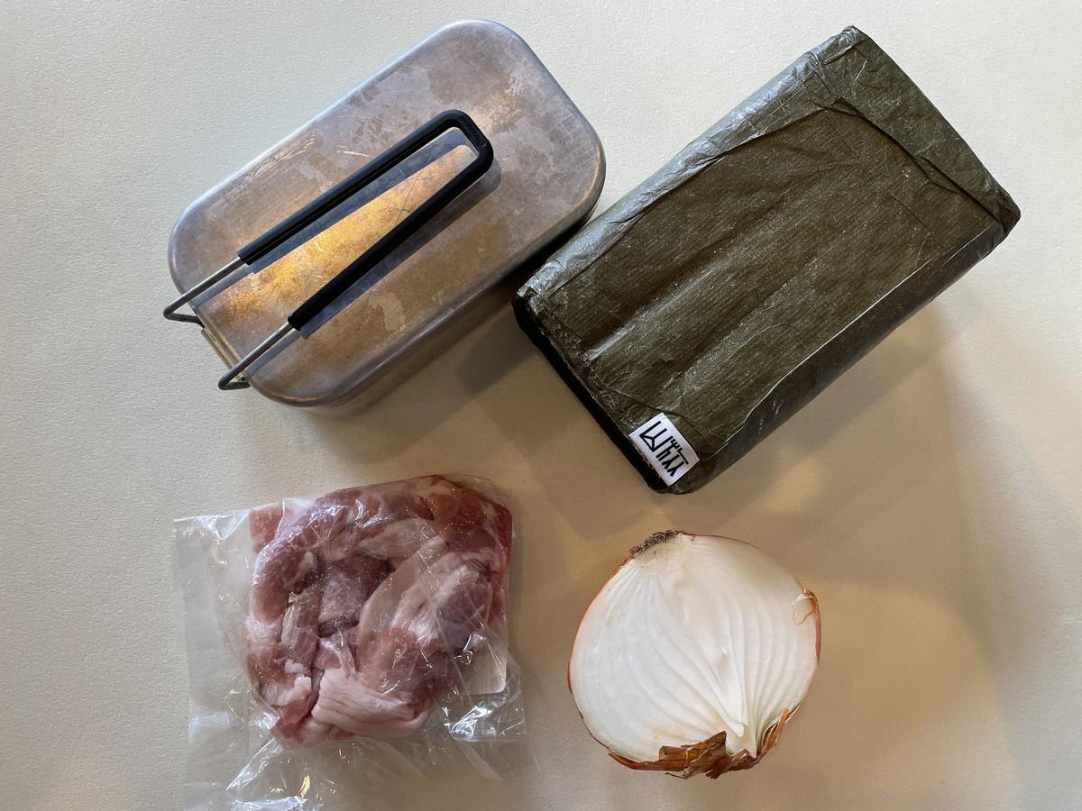 メスティンで作る丼レシピ 材料